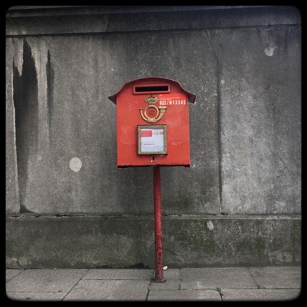 une belle boîte aux lettres à bruxelles
