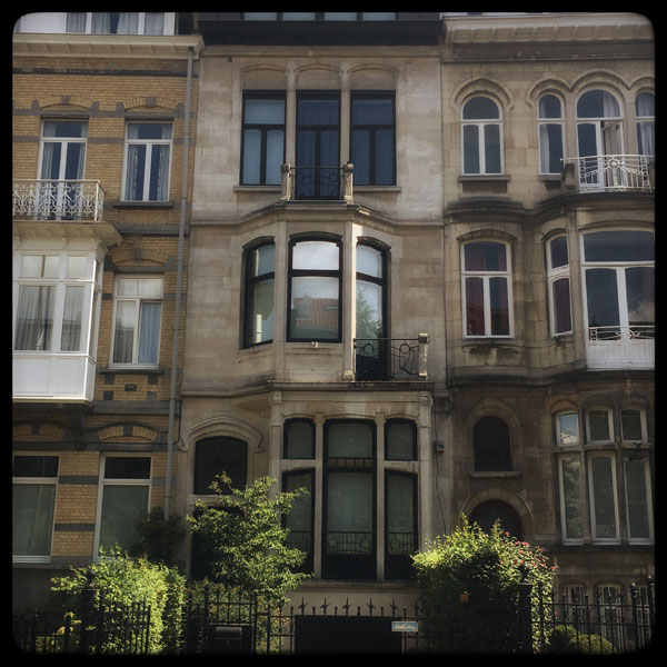 maison art nouveau, rue de la vallée à ixelles