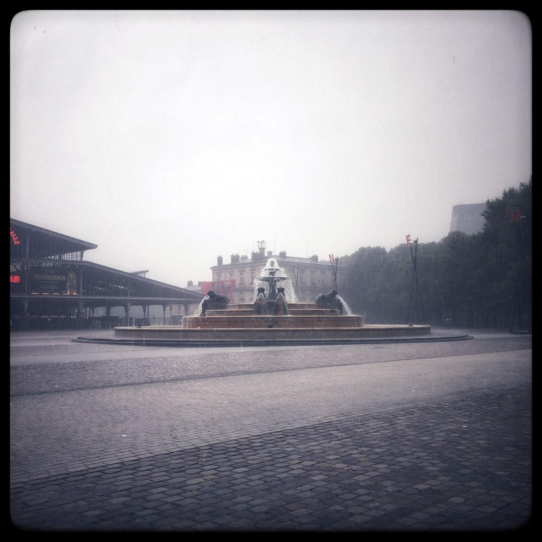 la Villette sous la pluie !