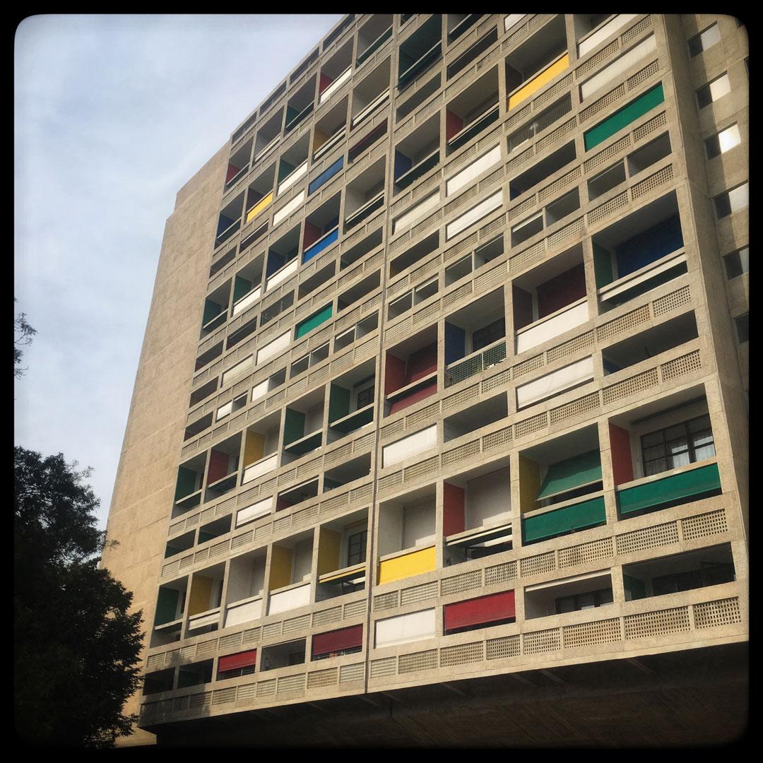 façade de la cité radieuse à marseille