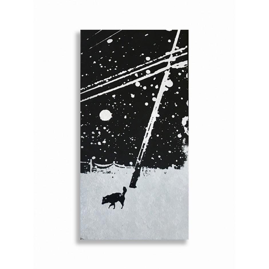 Snowflakes Dog Man d'Hajime Kimura